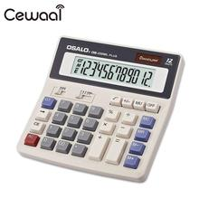 Cewaal DS-200ML Office Calculator 12 Digital Calculator Solar Power Calculator Battery Dual Power Muti-functional Calculator