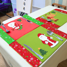 Santa Snowman Elk Pattern Dishes Plate Mat Christmas Placemat Table Mat Dinner Coaster Stand Under Hot Pad Desk Accessories set(China)