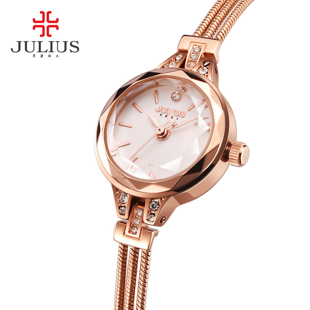 Julius Brand Women Bracelet Watches Diamond Rose Gold Quartz Watch Ladies Dress Bangle Waterproof Wristwatches JA-918 roleingly<br><br>Aliexpress