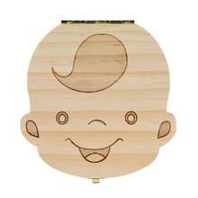 Hot!Baby Tooth Box organizer for baby Milk teeth Save Wood storage box for kids 3-6 years Boy Girl tooth wooden boxes May18(China)