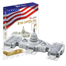 132PCS The Capitol Hill 2016 New 3D Puzzle DIY Jigsaw Assembly Model Building Set Architecture Creative gift Kids Toys for boys