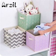 Storage Box Clothes Laundry Basket Toys Home Decor Home Organization Children'S Cartoon Pattern Non-Woven Fabric Storage Box