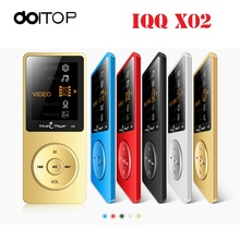 DOITOP IQQ X02 MP3 MP4 Player Portable MP4 Player Sport Mini Walkman With Speaker Support TF Card FM Loudspeaker(China)