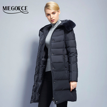 Winter Original fur Women's Jacket Simple Model Women Parkas Winter Coat Jacket New Winter Collection Miegofce Hot Model 2017(China)