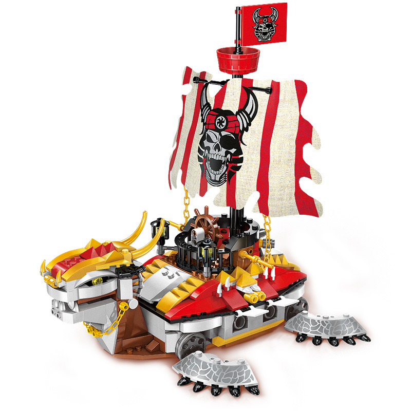 464pcs Pirate Ship Figures Bricks Toy Ship Armored Warships Enlighten Building Blocks Boys Gifts Toys for Children K0418-1312<br>