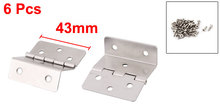 Home Office Metal Wardrobe Cupboard Cabinet Folding Expandable Door Hinge Silver Tone 6pcs