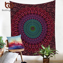 BeddingOutlet Indian Hippie Bohemia Tapestry Mandala Wall Tapestry 200cm Indian Polyester Bed Sheet Soft Wall Carpet 2017(China)