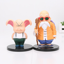 11-15cm Dragon Ball Anime Master Roshi Kame Sennin & Oolong Boxed PVC Action Figure Collection Model Dolls Toy