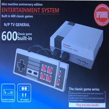 Mini TV Game Console Video Game Console For Nes 8 Bit Games with 600 Different Built-in Games Double Gamepads Supports PAL&NTSC