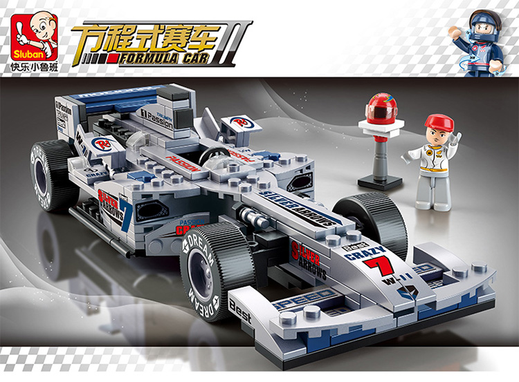 Sluban 0352 Models bricks  F1 silver racing car building Blocks GOOD for Children develop their ability Compatible with .<br><br>Aliexpress