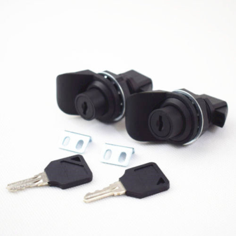 2PCS Push Button Latch Replacement Southco 93-303 Glovebox Lock Boat ABS Black