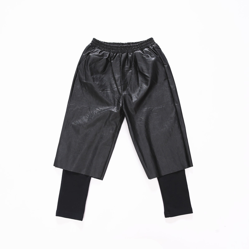 New arrival Childrens Clothing PU Leather Pants Warm Winter Waist Female Big Girl Pants Leggings Girl 6-11Y<br>