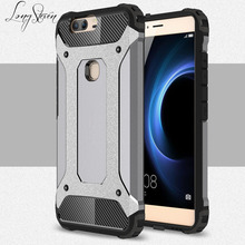 [Long Steven] For Huawei Honor V8 Case Unique Armor Anti-Knock Attached Dust Cap Cover For Huawei HonorV8 Case Funda Honor V8(China)