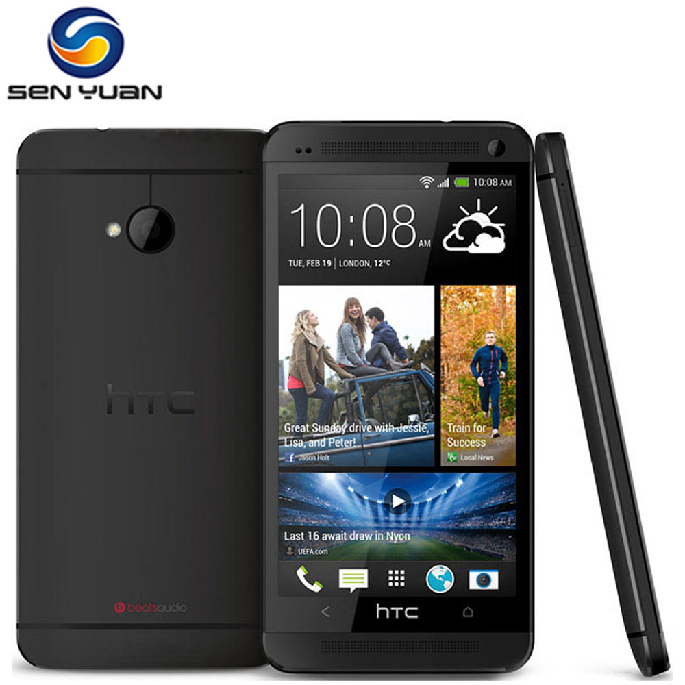 "Original HTC One m7 Unlocked Cell Phone Quad Core 4.7"" TouchScreen 2GB RAM 32GB ROM 3G WIFI GPS HTC one M7 Phone(China (Mainland))"