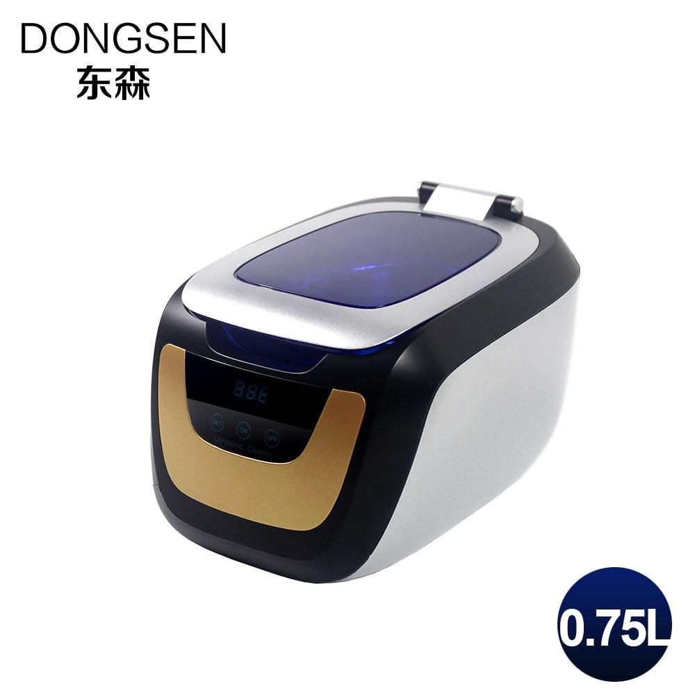 Mini Protable Ultrasonic Cleaner 750ML Tableware Baby Bottle Glasses Vegetable Shaver Watches Ultrasound Washer Timer Heater <br>
