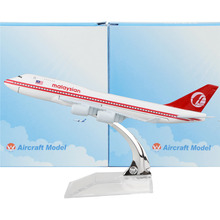 Malaysia Airlines Boeing 747-200 16cm Airplane Child Birthday gift Plane Models Toys Christmas Gift(China)