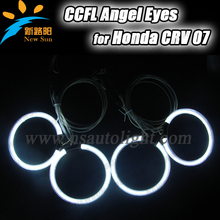 2016 Newest arrival 12V CCFL angel eyes auto headlights drl driving lamps halo ring bulb 4 pcs 105mm rings for Honda CRV 07