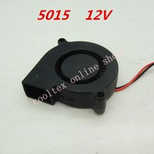 10pcs/lot  5015 blower fan Cooling fan 12 Volt  Brushless DC Fans cooler  radiator
