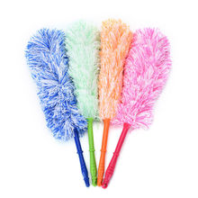4 Colors Car Dust Static Feather Duster To Clean The Dust Wiper New Long Design Ultrafine Bendable Fiber Household Cleaning Tool(China)