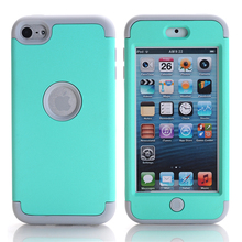 For Coque iPod Touch 6 Case Silicone + Plastic Hybrid Hard Case iPod Touch 6 Cover Armor Case Shockproof Back Covers Accessories