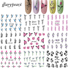 24 Designs 1 Sheet Nail Art Sticker Paper Water Transfer Manicure Tips Tool Nail Jewelry Bracelet Chain Makeup Wraps Tattoo 2018(China)
