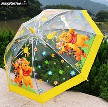 2017 Winnie the Pooh Umbrella Children Clear Carton Kid Parapluie Bubble Fancy Baby Child Rain Paraguas Transparente(China)