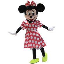New Minni Mouse Mascot Costume Fancy Dress Cartoon Character Adult Suit