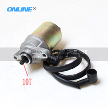 12V 10Teeth Start Starter Motor for GY6 47cc 49cc 50cc 139QMB Starter Motor Chinese Scooter Moped ATV Quad Go Kart TAOTAO ROKETA