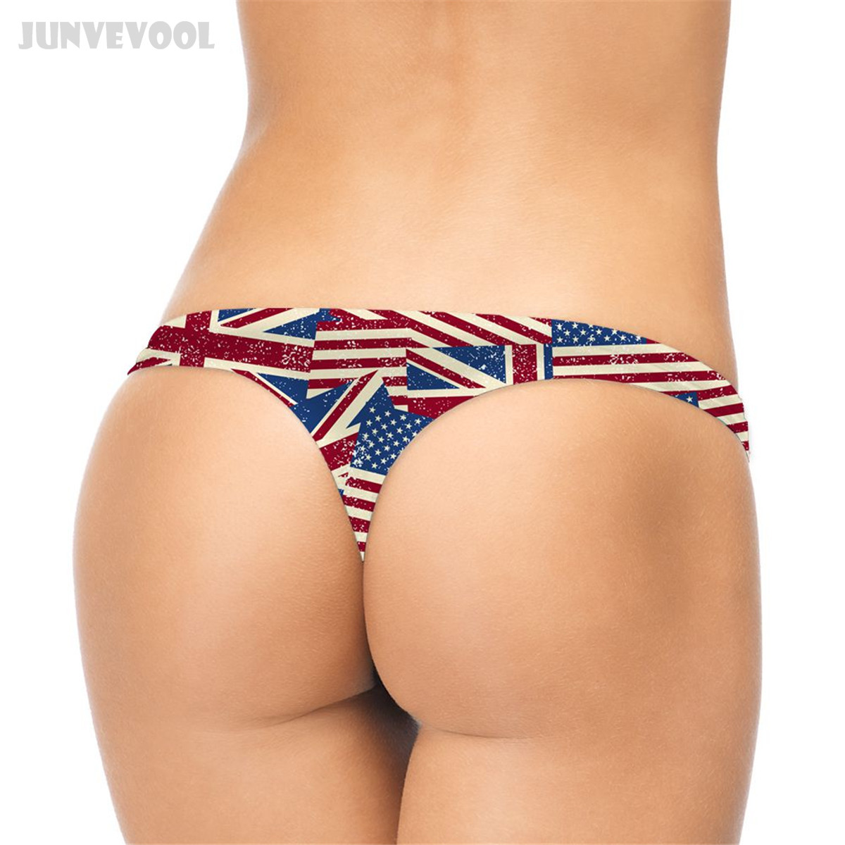 Sexy Women Bandage Stripe Usa Flag Print High Cut Bodysuit Thong Swimwear Pole Dance Wear Erotic Lingerie Sexy Jumpsuit F48 Luggage & Bags