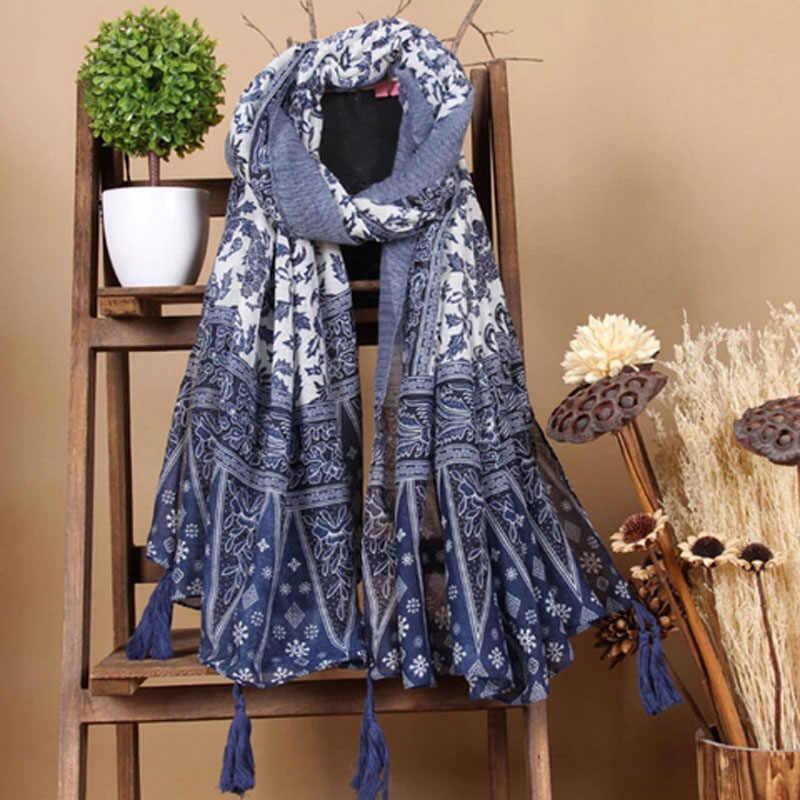 Superora Sciarpa Donna in Cotone Lino Foulard Stola Scialle Caldo Primavera ed Estate