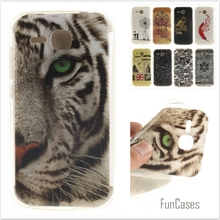 Cartoon Owl Tiger Lion Painted Glossy Soft TPU IDM  Silicon Back Cover Protective Mobile phone Case for Huawei Ascend Y600