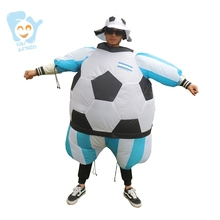 Halloween Costume Men Cosplay Inflatable Soccer Football Costumes Adult Fancy Dress World Cup National Soccer Team Jersey