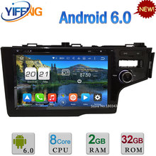 "Octa Core WiFi 9"" Android 6.0 32GB ROM AUX DAB 3G/4G RDS 2GB RAM Car DVD Multimedia Player Stereo Radio For Honda FIT RHD 2014"