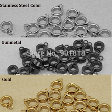 10pcs/lot Inner Dia 5mm Stainless Steel Clasp Connector Pendant Carriers Charm For Bracelet DIY Jewelry Finding F28