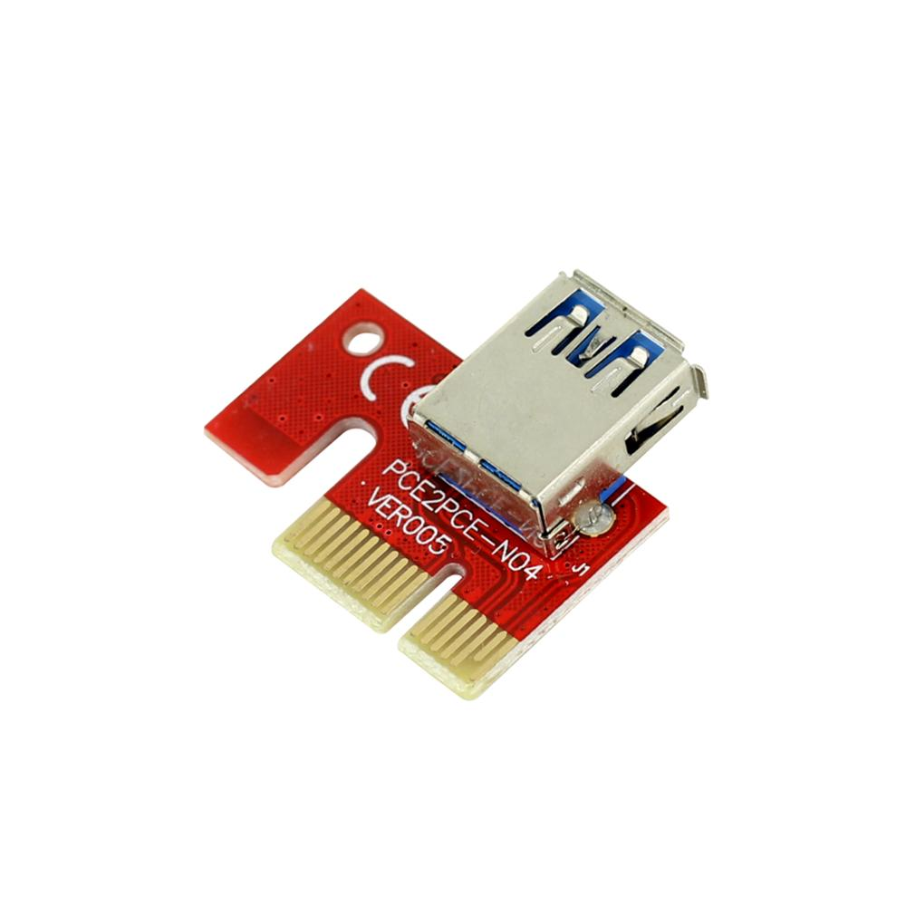 PCIE-RED-PCIE 1X to16X PCI-E 1X to USB to Video Graphics Card Expand the line Mining PCI-E Extension Line Small Card Board