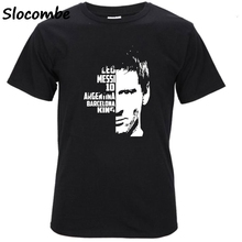 2017 Lionel Messi 500 GOALS Barcelona TO Madrid Men's Short sleeve t-shirt Argentina 100% cotton t-shirt fans for shirt(China)