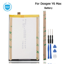 Doogee Y6 Max 3D Battery 4300mAh 100% Original High Quality Replacement accessory accumulators For Doogee Y6 Max+Tools+Adhesive