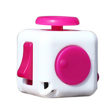 Mini Fidget Cube Vinyl Desk Finger Toy Squeeze Fun Stress Reliever 11 Colour Click Glide Flip Spin Breathe Roll