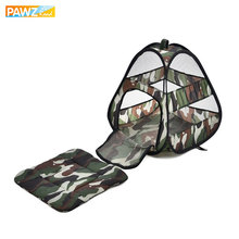 Pet Shop Camouflage Cat Bed Cat Products Breathable Cat Tent Travel Collapsible Easy Storage Bed For Small Animals Ferret House(China)