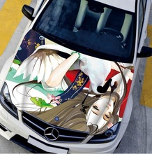 Innovation 135*150cm Car Sticker Hood Cool LOL Game Styling Decal Decor Carbon Vinyl Cover Waterproof Cartoon Girl