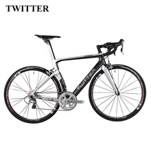 2018 NEW TWITTER Light 700C Full Complete carbon road Bicycle carbon road Bike complete 22 Speed V Brake XXS XS S M L(China)