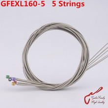 1 Set GuitarFamily GFEXL160-5 Nickel Wound 5 Strings  Electric Bass String  ( 050-135 )  Made IN USA