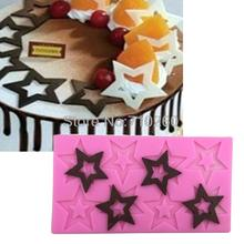 M026  High Quality Stars Shaped Silicone Mold Chocolate Mold Cake Decoration