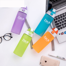 Frosting Sport Drink Bottle My Candy Color Bottle Drinking Bottles for Water Plastic Leak-Proof Shaker Tumbler Eco-Friendly