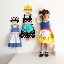 Top quality 2017 New Summer Ins Baby Girl Alice snow White Princess Dress Dot Cut cotton kids Clothes Formal dress for 1-8Y(China)