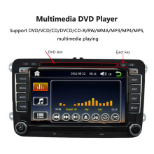 "7"" 1080P HD DVD Player GPS Navigation Bluetooth Car Radio 2 Din Dash Car PC Stereo Head Unit for VW Volkswagen +Free Map(China)"
