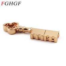 FGHGF Pen Drive Metal Pure Copper Heart Key Gift USB Flash Drive mini USB stick Key Genuine  4gb 8gb 16gb 32gb Thumb Stick