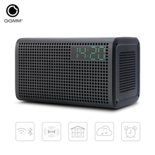 GGMM E3 WiFi Wireless and Bluetooth Speaker Home Theater Stereo Audio Music Speakers with LED digital clock support charging