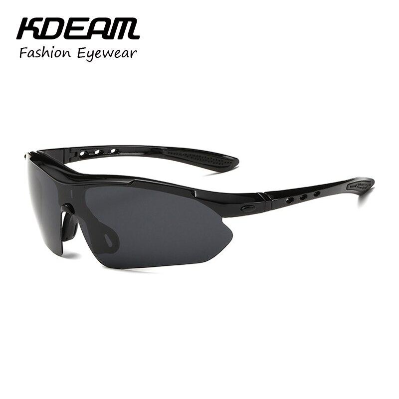 Kdeam Fashion Sport Sunglasses Polarized Men Goggle Reflective Coating HD Lens Sun Glasses Semi-Rimless UV400 6 Colors KD8501<br><br>Aliexpress