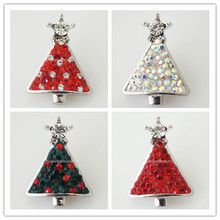 10pcs/lot Snap Charm Holiday Ginger Interchangeable Jewelry Ginger Snap Button Rhinestone Christmas Decoration DIY charms KB4380